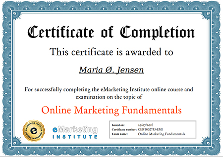 free online marketing certification course | emarketing institute