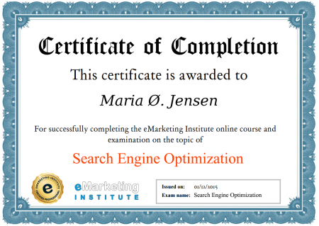 100% FREE SEO Certification, Free Ebook and Free SEO Course
