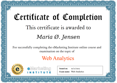 100% FREE Web Analytics Course, Ebook and Certification