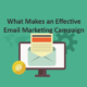Effective email marketing campaign