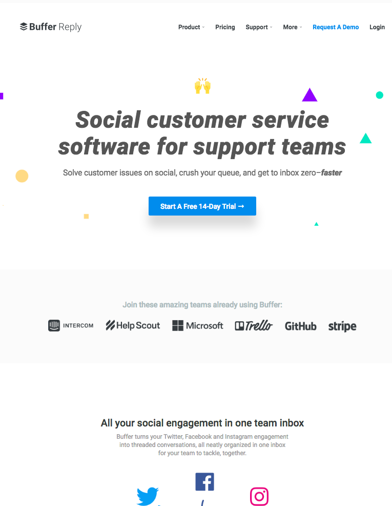 Landing page with CTA