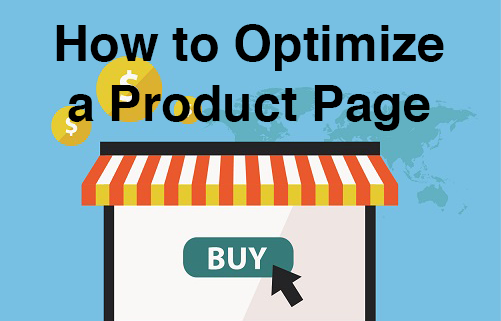 Optimization of a product page