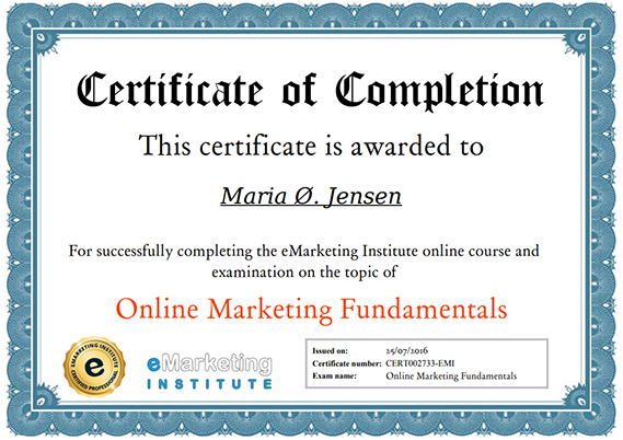 Digital Marketing Certification Course Online