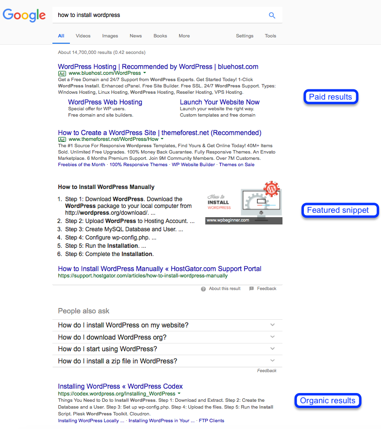 Search engine results screenshot
